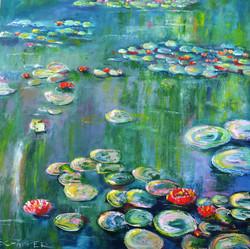 Seerosen I - frei nach Monet