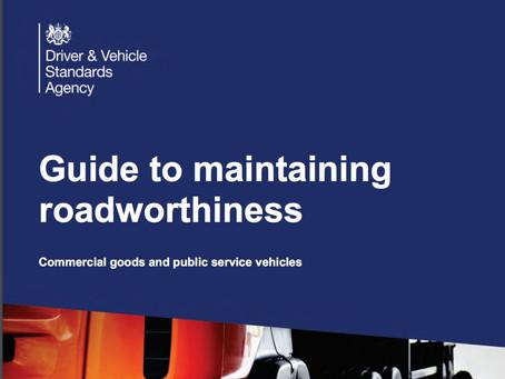 DVSA  Guide to Maintaining Roadworthiness 2020 updates