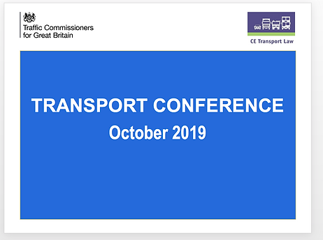 CE Transport Law Conference Senior Traff