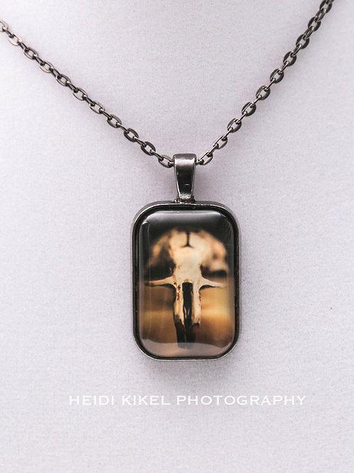 Rat Skull Photo Pendant Necklace