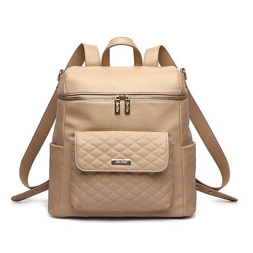 Monaco Diaper Bag in Latte Brown