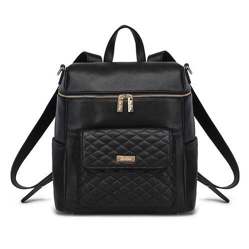 PRE-ORDER Monaco Diaper Bag Ebony Black