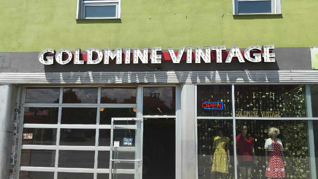 GOLDMINE VINTAGE SIGN DENVER