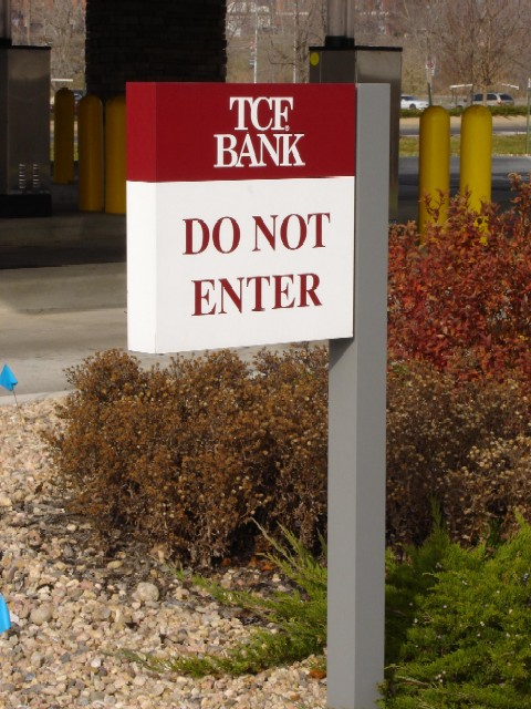 tcf-bank-do-no-enter-sign