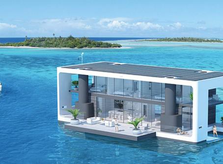 Une maison sur l'eau d'avant-garde !