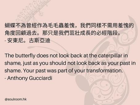 蝴蝶不為曾經作為毛毛蟲羞愧