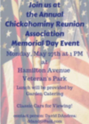 Join us at the Annual Chickahominy Reuni