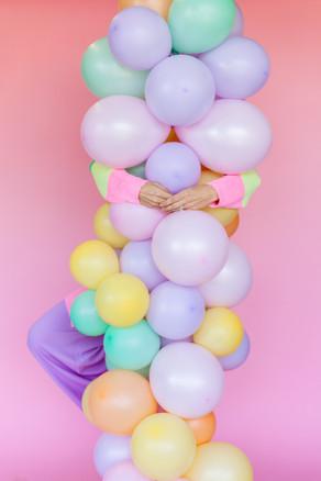Balloon Garland by Deliciously Ordinary