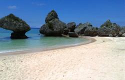 de la plage de Yomitan