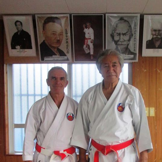 Sensei Kenyu CHINEN et gilles Mehard