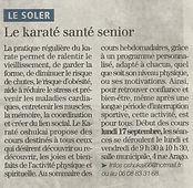 Journal l'Indépendant et le Karate Santé Senior