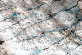 Tent on a Glacier