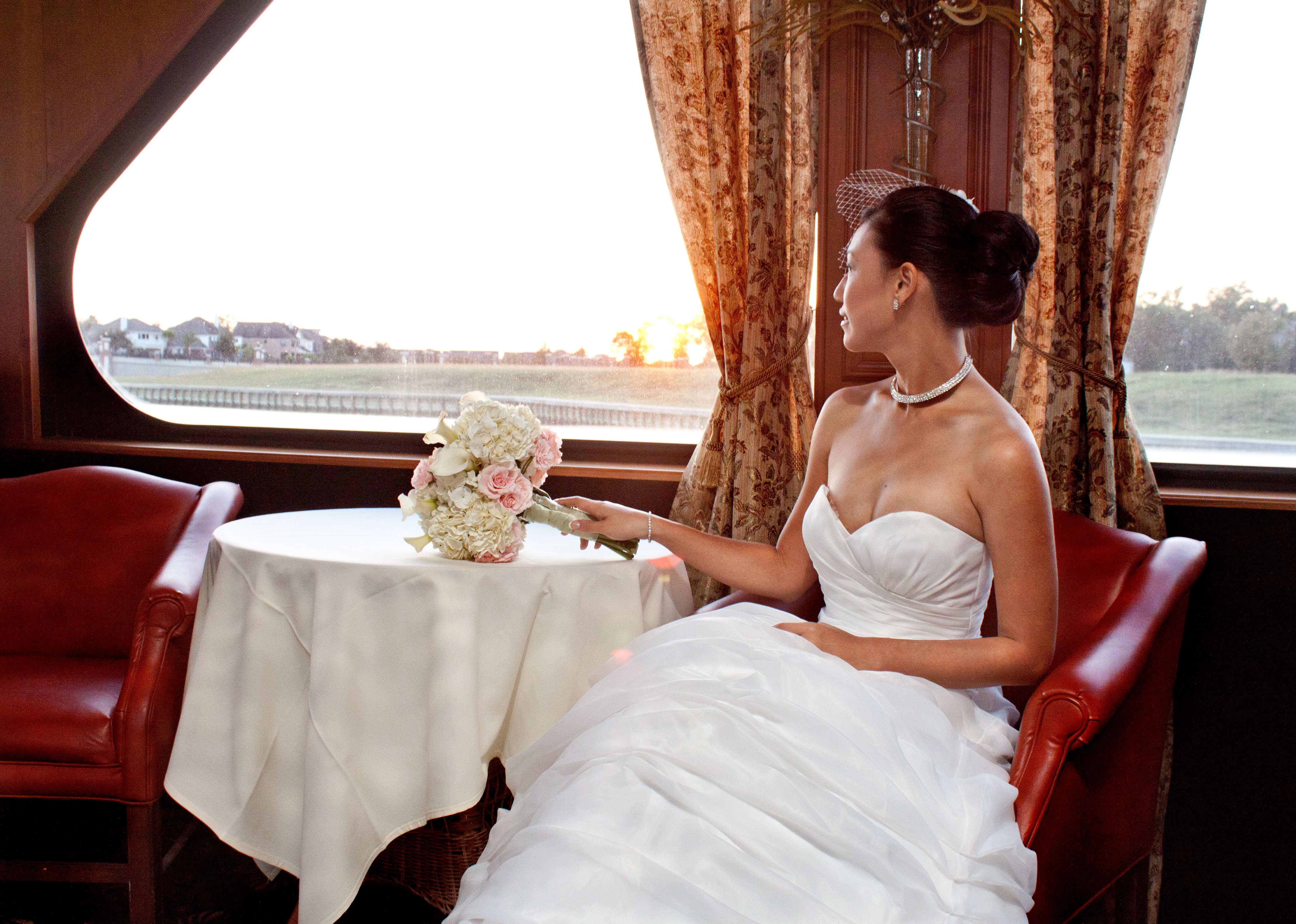 Private boat wedding photographer