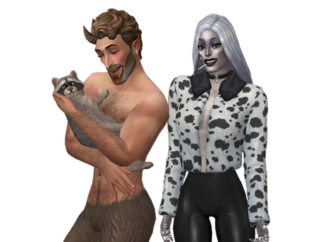 DOWNLOAD Sims Family | Satyr Libertine & SiENNA Bow and their Raccoon