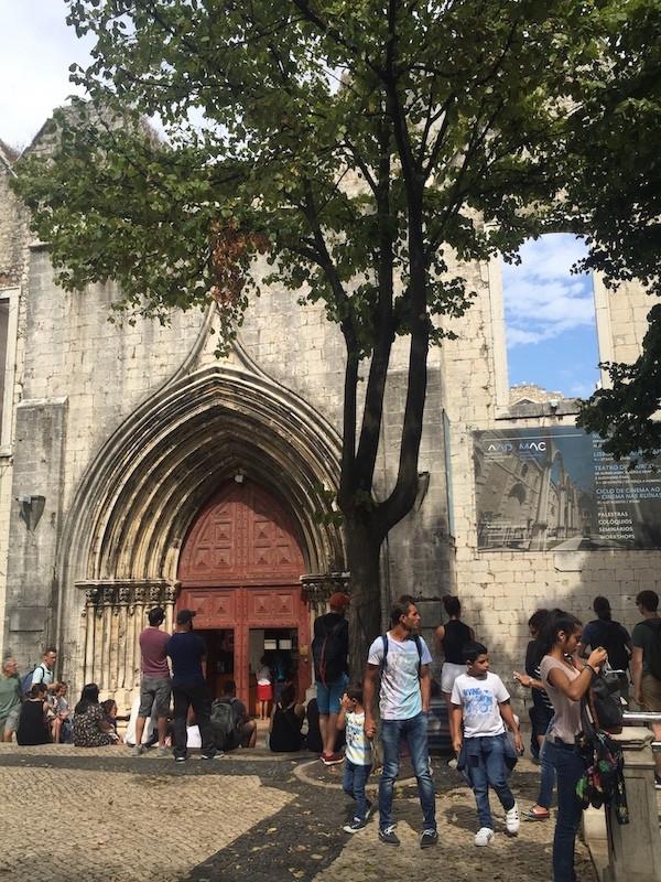 Entrance of the Convento do Carmo