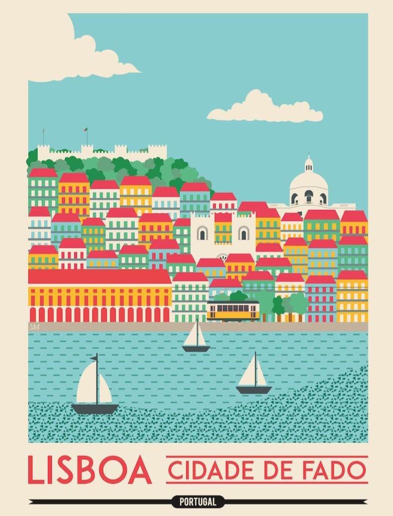 Lisbon Travel Poster