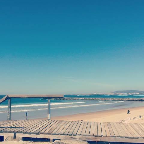 Coastline in Costa da Caparica, Portugal