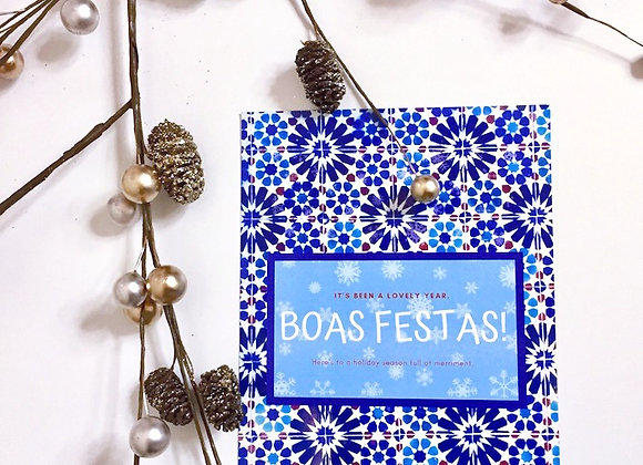 Boas Festas Holiday Postcard Pack
