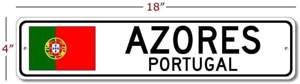 Azores Street Sign