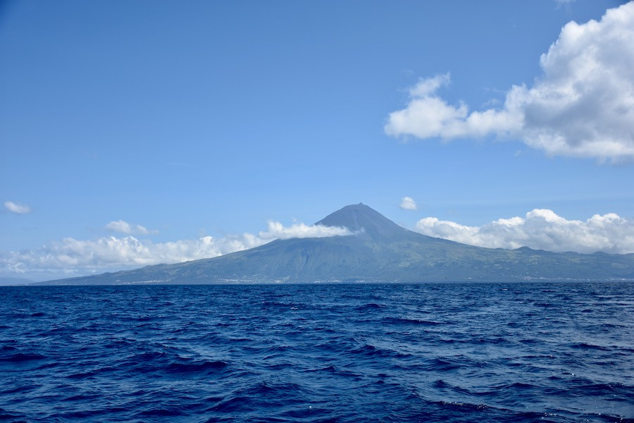 View of the Pico Volcano on Pico island in Azores, Portugal