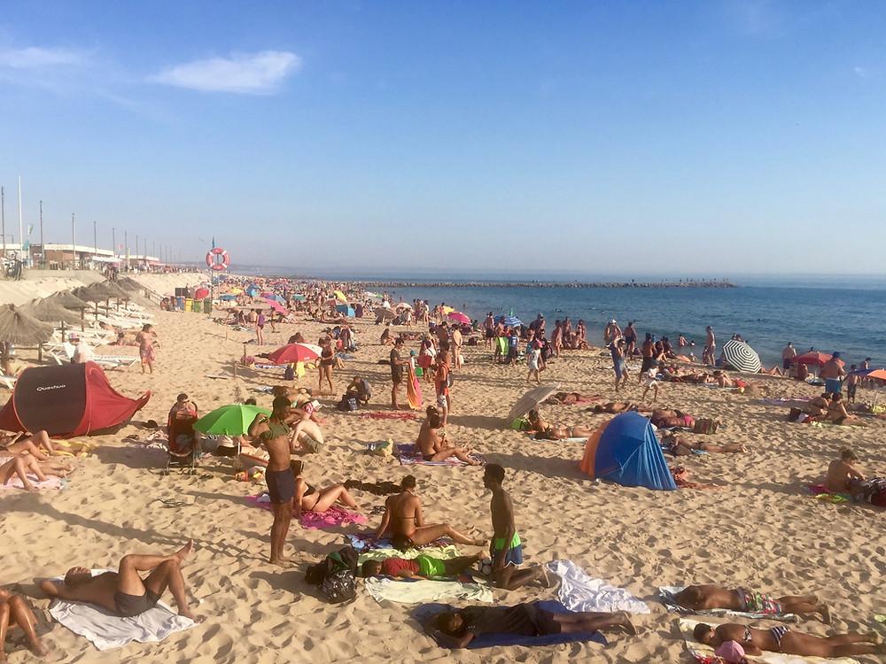 A beach in Costa da Caparica, Portugal