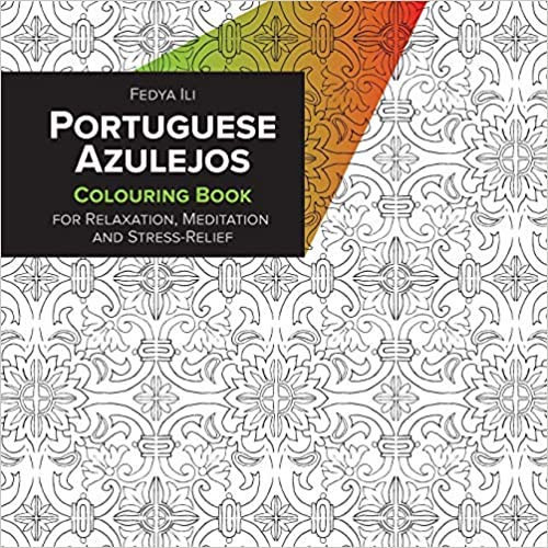 Portuguese azulejos coloring book for relaxation, meditation, and stress relief