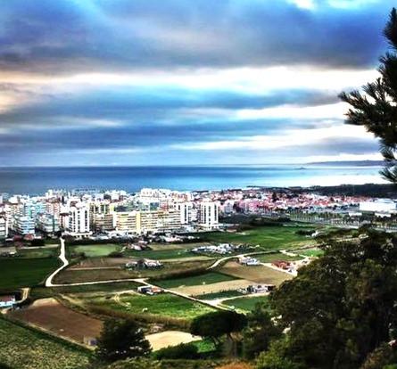 Aerial view of Costa da Caparica, Portugal