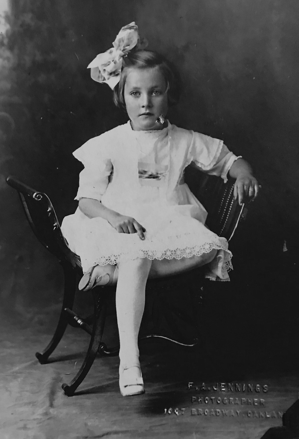 "Gladys ""Billie"" Chrysostomos Calhoun, as a child"