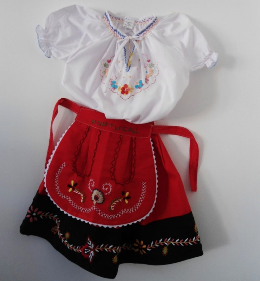Traditional Portuguese folklore girl's outfit