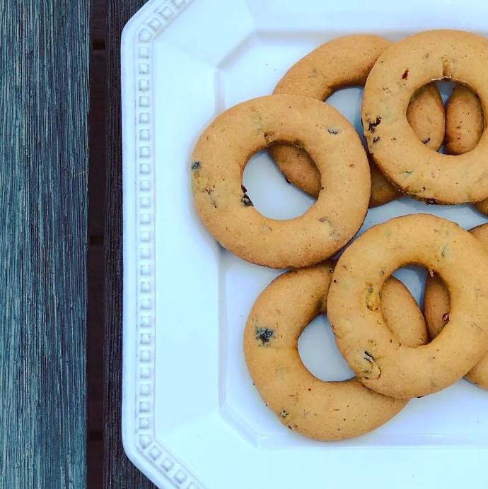 Pistachio Cranberry Biscoitos/Biscotti