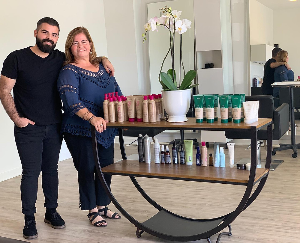 Co-owners of Salon VIP in their salon in San Diego