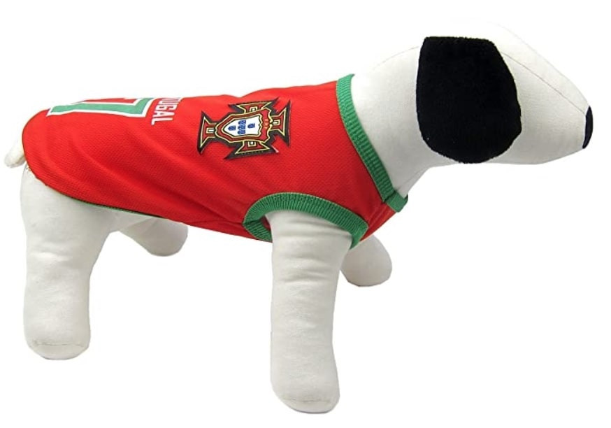 Portugal soccer jersey for dogs