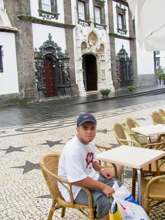 Paulo Salgueiro Jr. on his first visit to São Miguel, Portugal