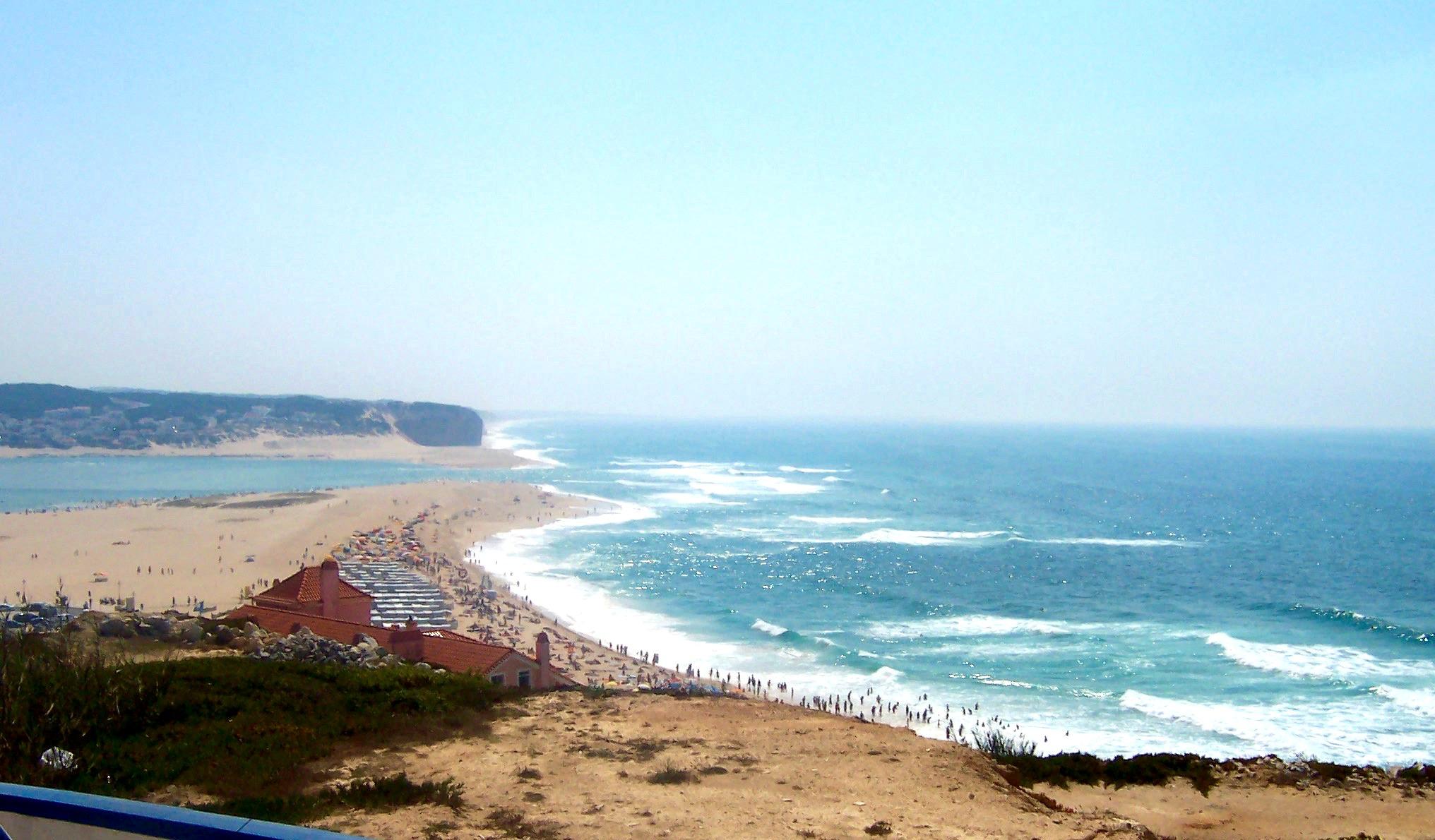 Beach of Foz do Arelho, Portugal