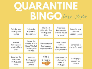 Luso Style Quarantine Bingo
