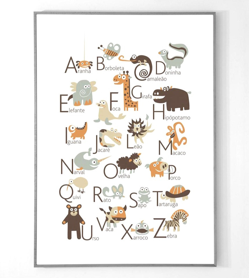 Portuguese Alphabet Poster