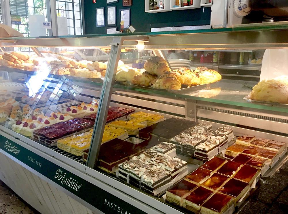 Pastelaria Santo Antonio bakery shop in Costa da Caparica, Portugal