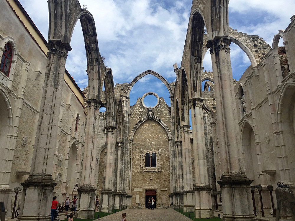 The Convento do Carmo in Lisbon, as it stands today