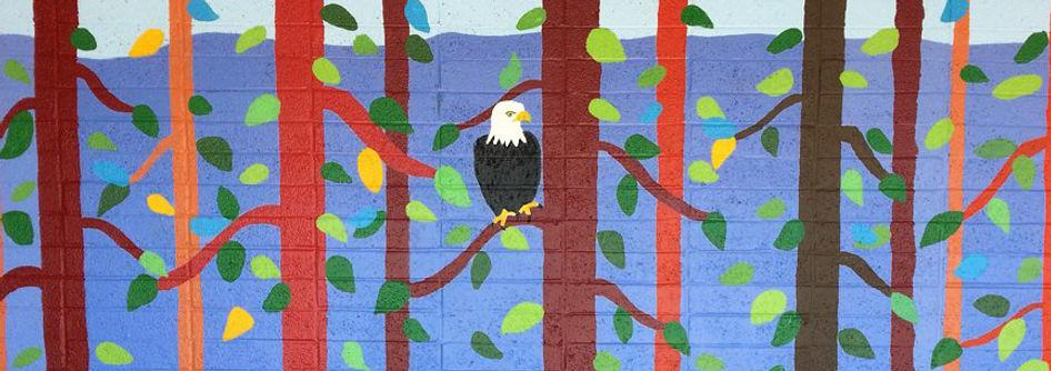 Schools murals by bay area muralist