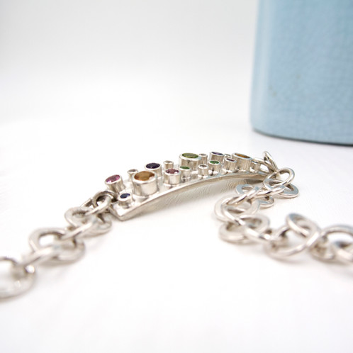 pretty silver bracelet heart women white crystal plated diamond gold p