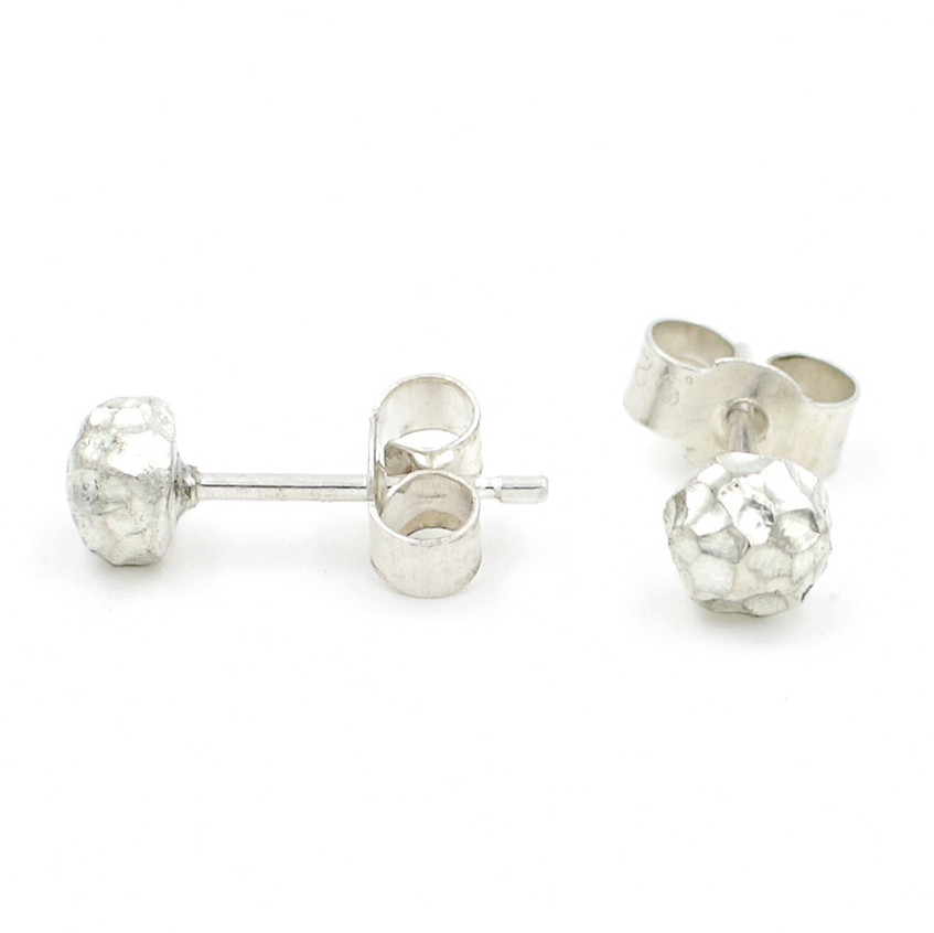 silver uniquely textured studs