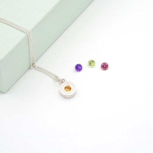 sterling silver petite necklace handmade in the uk.