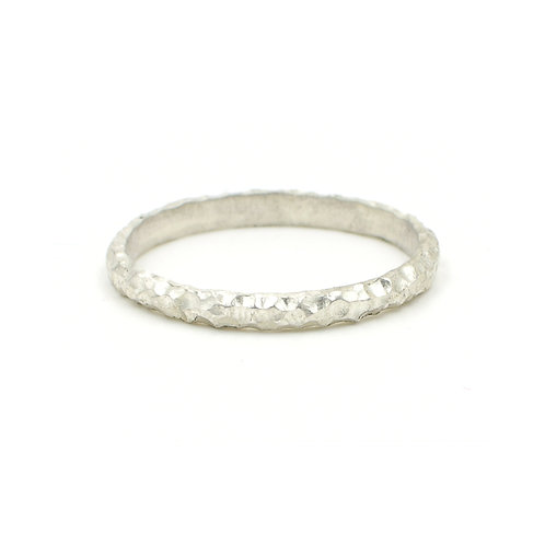 Uniquely Textured Skinny Ring