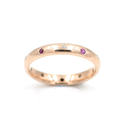 Rose Gold, Diamond, Ruby and Pink Sapphires