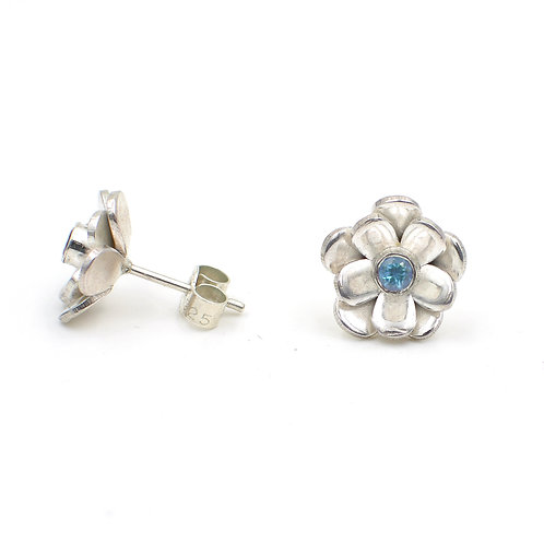 Gemstone Flower Studs