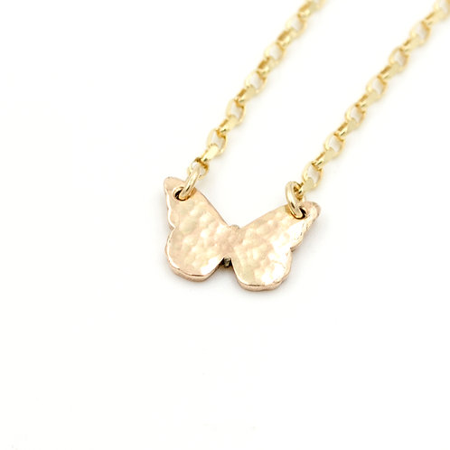 9ct Gold Butterfly Necklace
