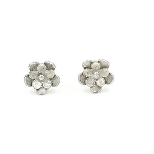 Double Layered Flower Studs