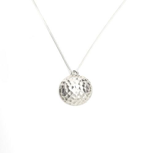 Unique Textured Silver Pendant