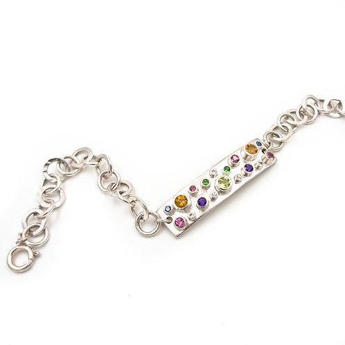 Silver, Gemstone handmade Bracelet