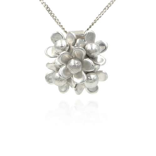 Sterling Silver Cluster Necklace
